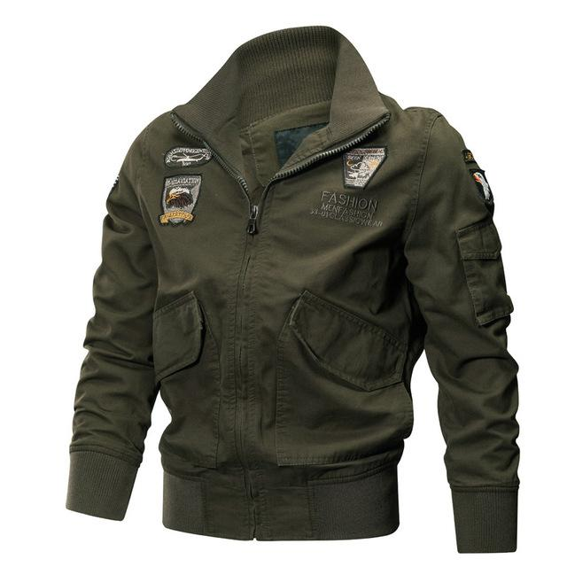 Men Jacket Coat Tactical Military Style Uniform Flight Army Green Windbreaker Outwear Bomber Jacket
