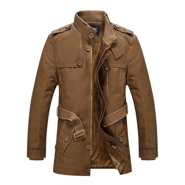 Winter Leather Jacket Mens Casual Warm Mens Long Leather Trench Coat Washed PU Leather Motorcycle Jacket Plus size 4XL