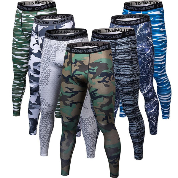 Men Camouflage Pants Fitness Joggers Compression Trousers Bodybuilding Tights Leggings Pants