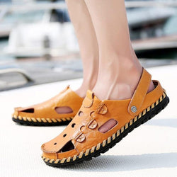 Men's Sewing Summer Sandals Slip On Beach Slipper Shoes