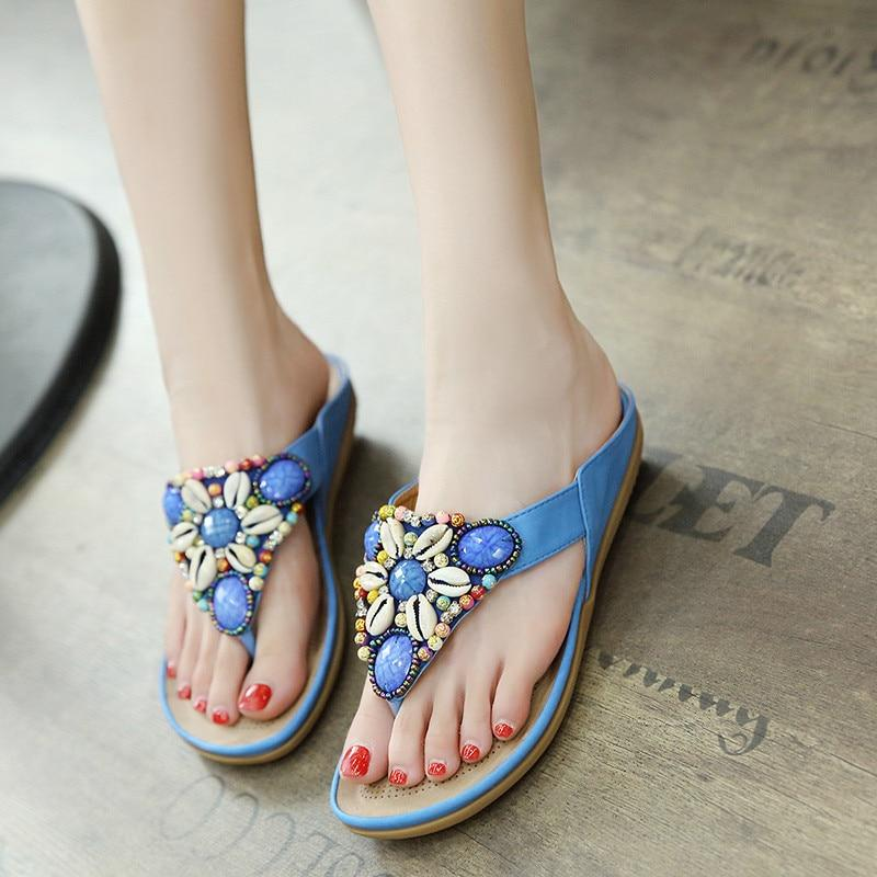 Women Casual Comfortable Breathable Sandals Soft Bottom Flip Flop Beach Sandals
