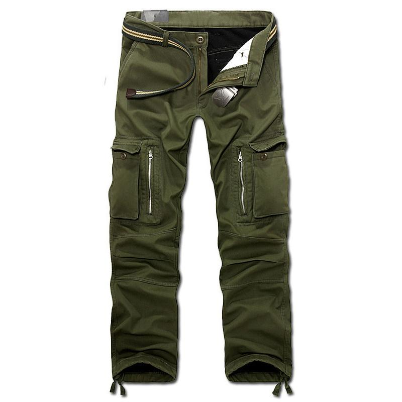 Men winter pants cargo pants baggy trousers without belt