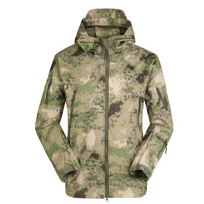 Men Military Tactical jacket Plus Size Waterproof Soft Shell Snake Camouflage Jacket Men Tactical Army Jackets