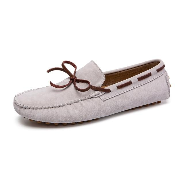 Men's British Style Loafers Moccasins Genuine Leather Flats Shoes