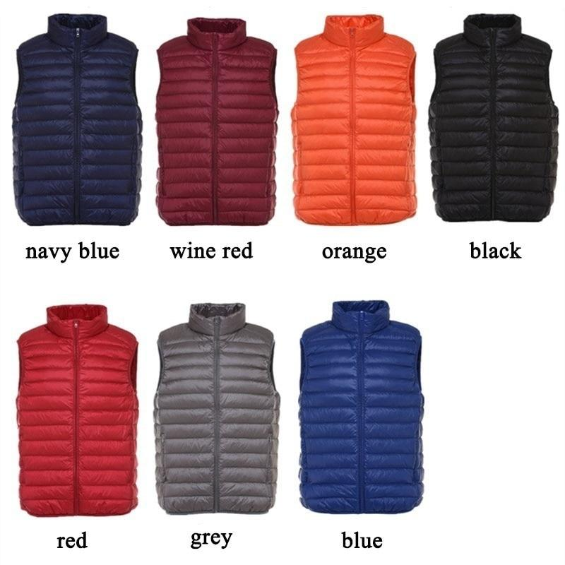 Winter Women Down Vest Sleeveless Vest Jacket Warm Down Jacket Plus Size Women Sleeveless Jackets Size S-XXXL
