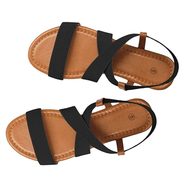 Women's Low Heel Flats Sandals Anti Skidding Peep-toe Beach Sandals