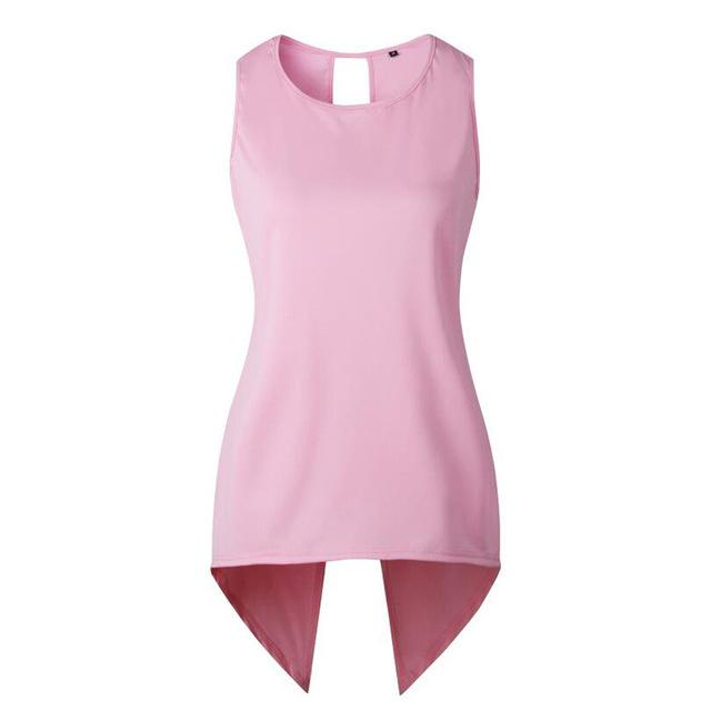 Corachic.com - Women Cross Irregular Sleeveless Backless Tops and Blouses