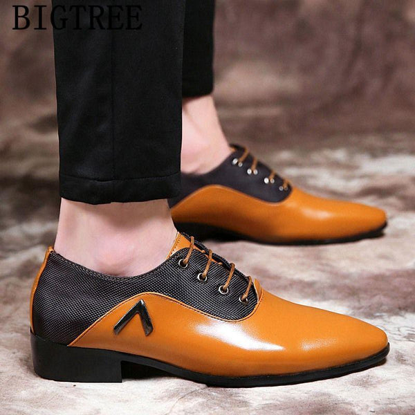 Men dress shoes italian designer luxury leather oxford shoes