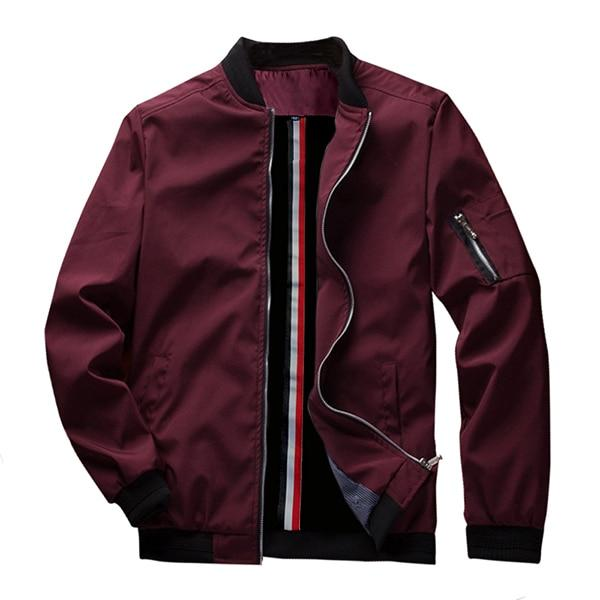 Men's Bomber Zipper Jacket Casual Streetwear Hip Hop Slim Fit Pilot Coat Men Clothing