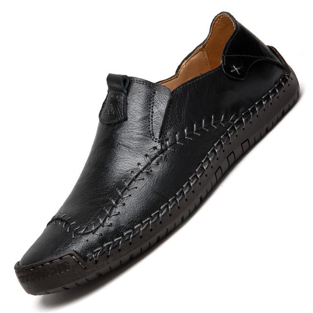 Men's Genuine Leather Loafers Shoes Handmade Soft Moccasins Flats Driving Shoes