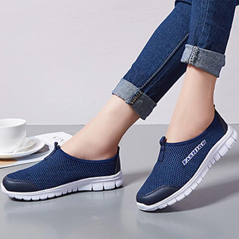 Corachic.com - Women Mesh Loafers Soft Bottom Comfort Breathable Walking Flats Shoes