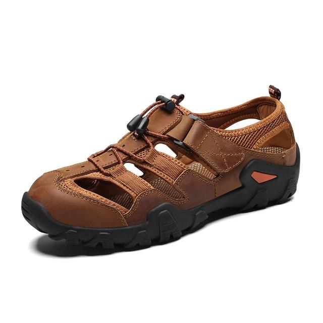 Men's Casual Soft Sandals Genuine Leather Large Size Sandals