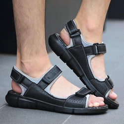 Men's Genuine Leather Sandals Casual High Quality Outdoor Beach Sandals