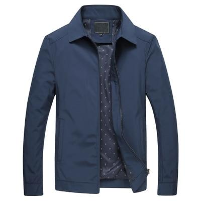 Mens Business Windbreaker Outerwear Stand Collar Jacket Overcoat