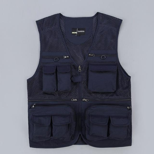 Tactical Vest Coat Fashion Men's Summer Photographer Waistcoat Mesh Work Sleeveless Jacket Tool Many Pocket Vest