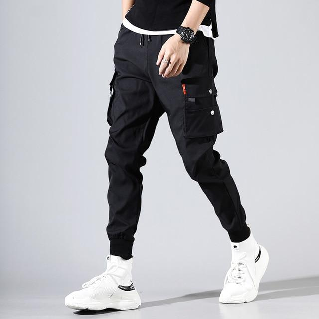 Hip Hop Men Pantalones Hombre Kpop Casual Cargo Pants Skinny Sweatpants Joggers Modis Streetwear Trousers