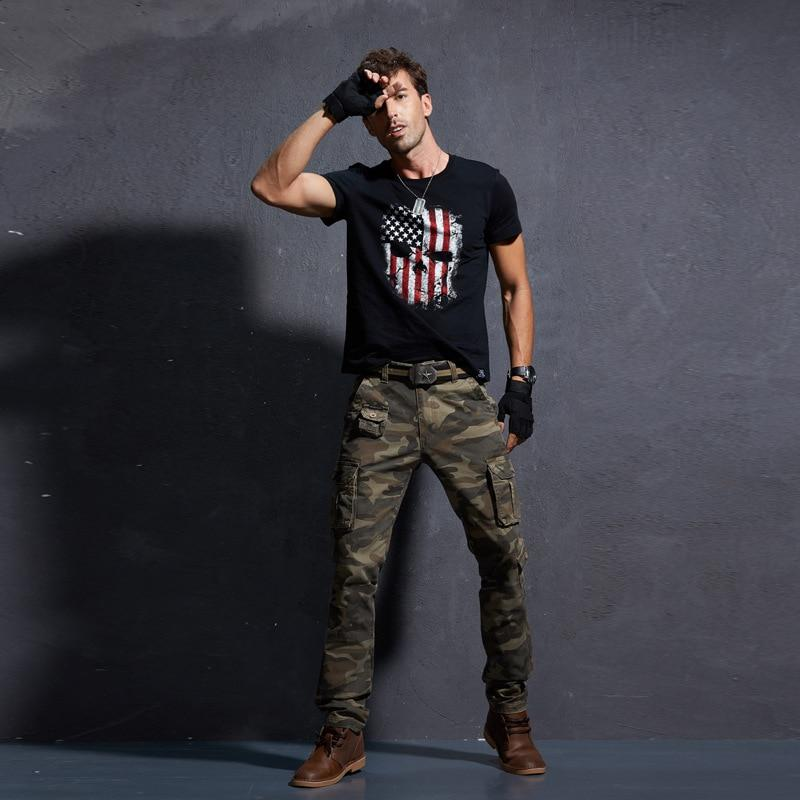 Men Casual Pants Military Tactical Pantalon Camouflage Homme Slim Fit Cargo Pants Homber Modis Black Uomo Trousers