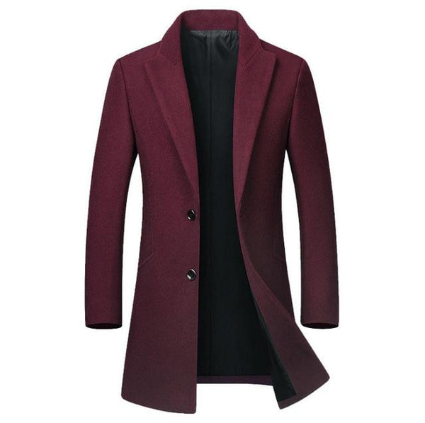 Men's High-quality Wool Coat casual Slim collar wool coat cotton collar trench coat Winter Wool Jacket