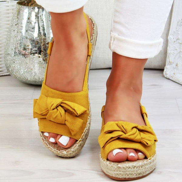 Women's Platform Sandals Summer Peep Bow Casual Sandal Shoes