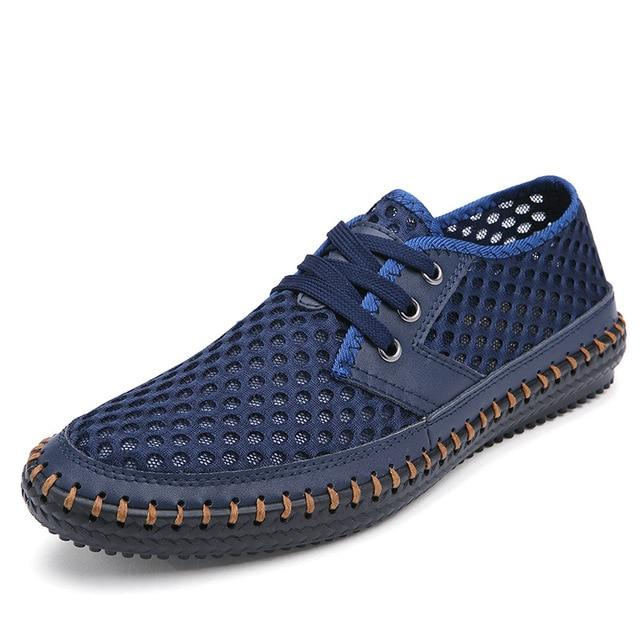 Men's Breathable Casual Flats Loafers Mesh Comfortable Soft Shoes
