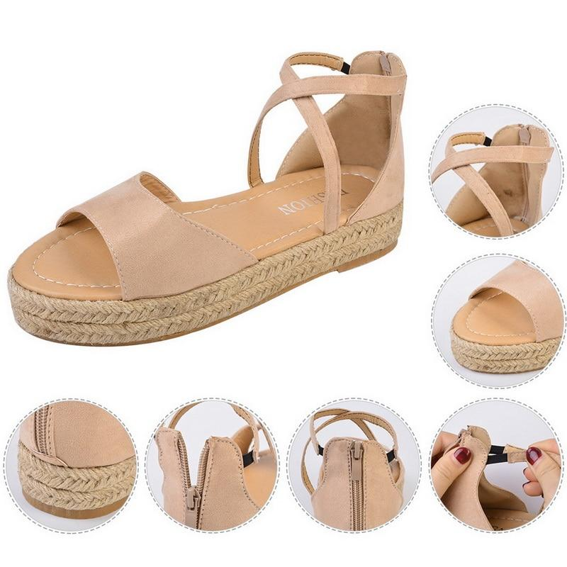 Women's Platform Sandals Peep Toe Design Roman Sandals