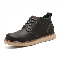 Men's Spring Casual Daily Boots PU Non-slipping Dark Brown / Black / Coffee