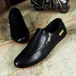 men's lightweight style casual driving shoes loafers black