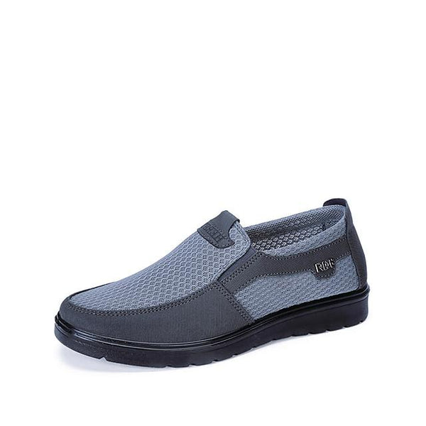 Men's Summer / Fall Casual / Preppy Daily Outdoor Loafers & Slip-Ons Mesh Non-slipping Wear Proof Black / Gray / Coffee