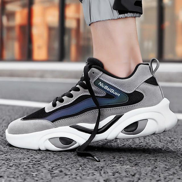 Men's Summer / Fall Sporty Daily Outdoor Trainers / Athletic Shoes Running Shoes / Basketball Shoes Tissage Volant Breathable Non-slipping Wear Proof Dark Grey / Black / Light Grey