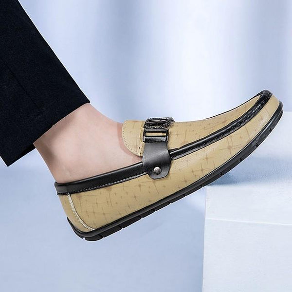 Men's Fall Daily Loafers & Slip-Ons PU Light Brown / Black / Khaki