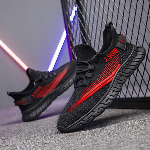 Men's Summer / Fall Sporty / Casual Daily Outdoor Trainers / Athletic Shoes Running Shoes / Basketball Shoes Tissage Volant Breathable Non-slipping Wear Proof Black / Red / Black / Beige