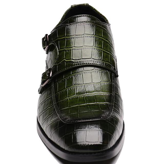 Men's Fall Business Daily Oxfords PU Wear Proof Black / Yellow / Green
