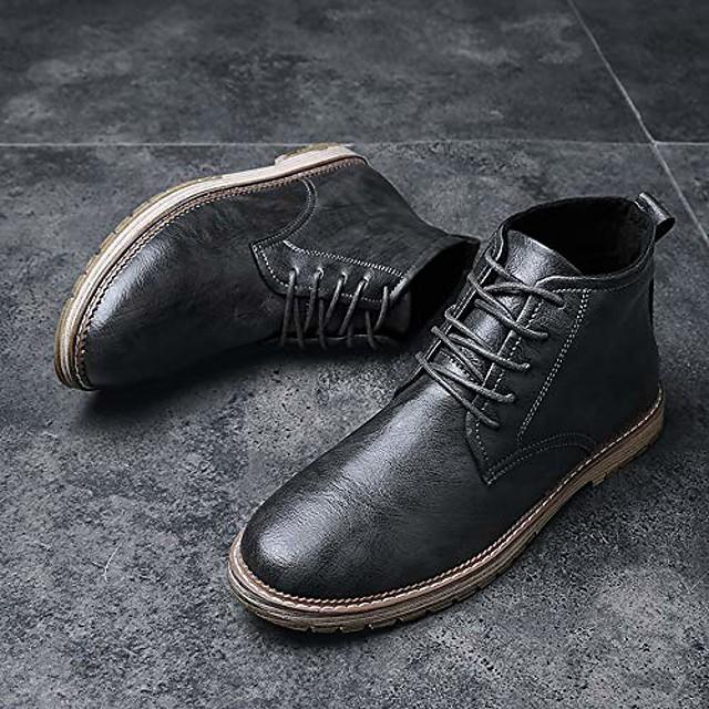 men's autumn outdoor leather lace-up high-top ankle martin boots oxford shoes