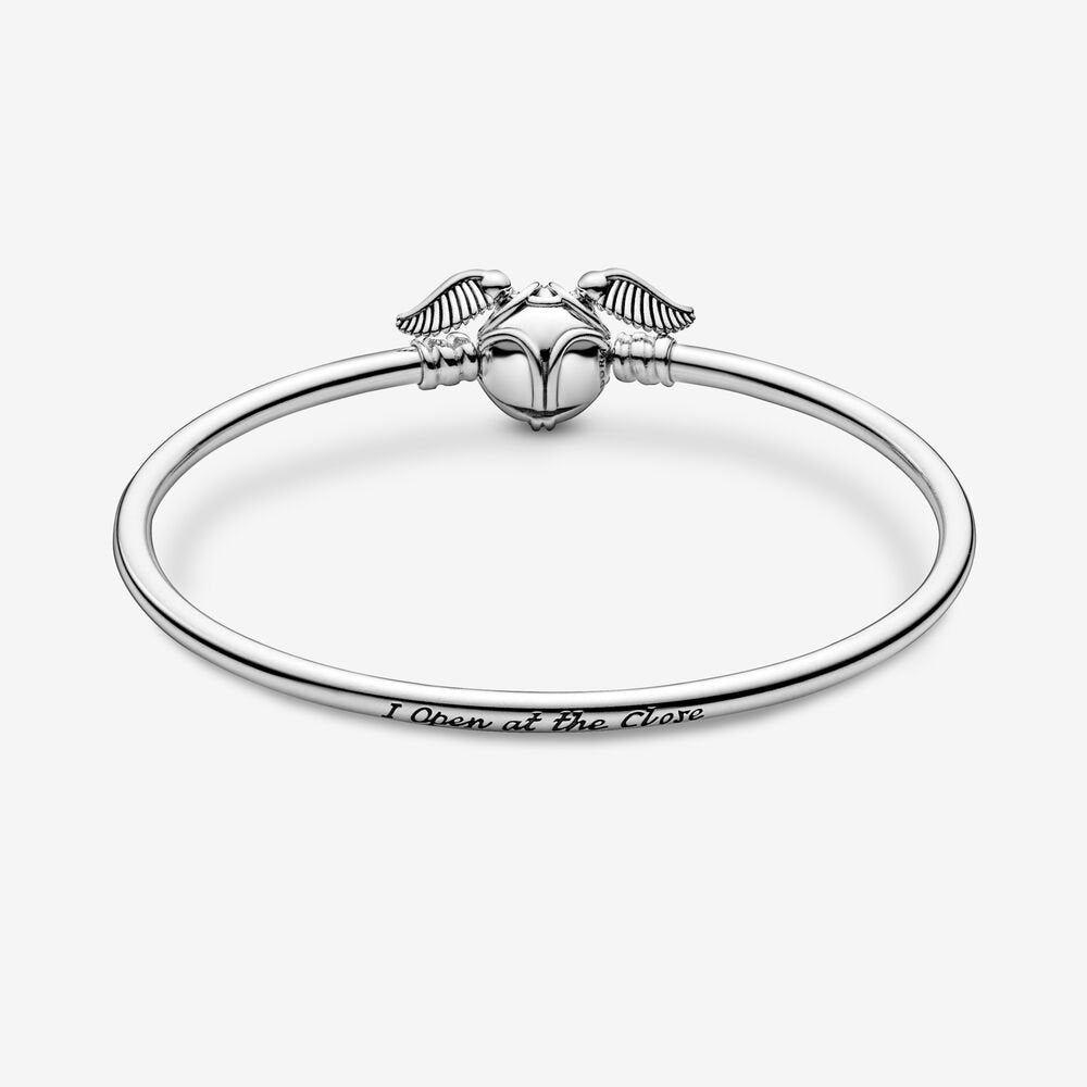 Pandora Moments Harry Potter Bracciale Rigido Con Chiusura Boccino d'Oro