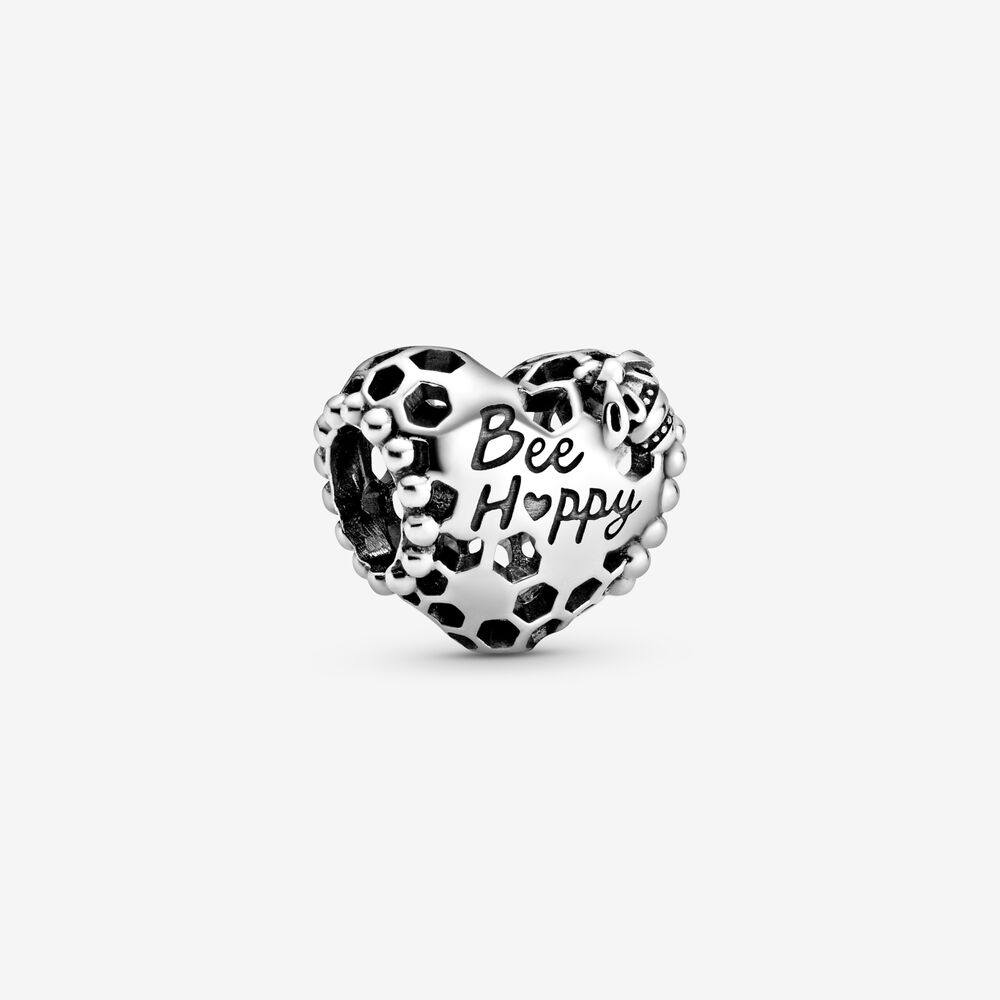 Charm A Cuore Nido d'Ape Bee Happy (Sii Felice) - Q Shops