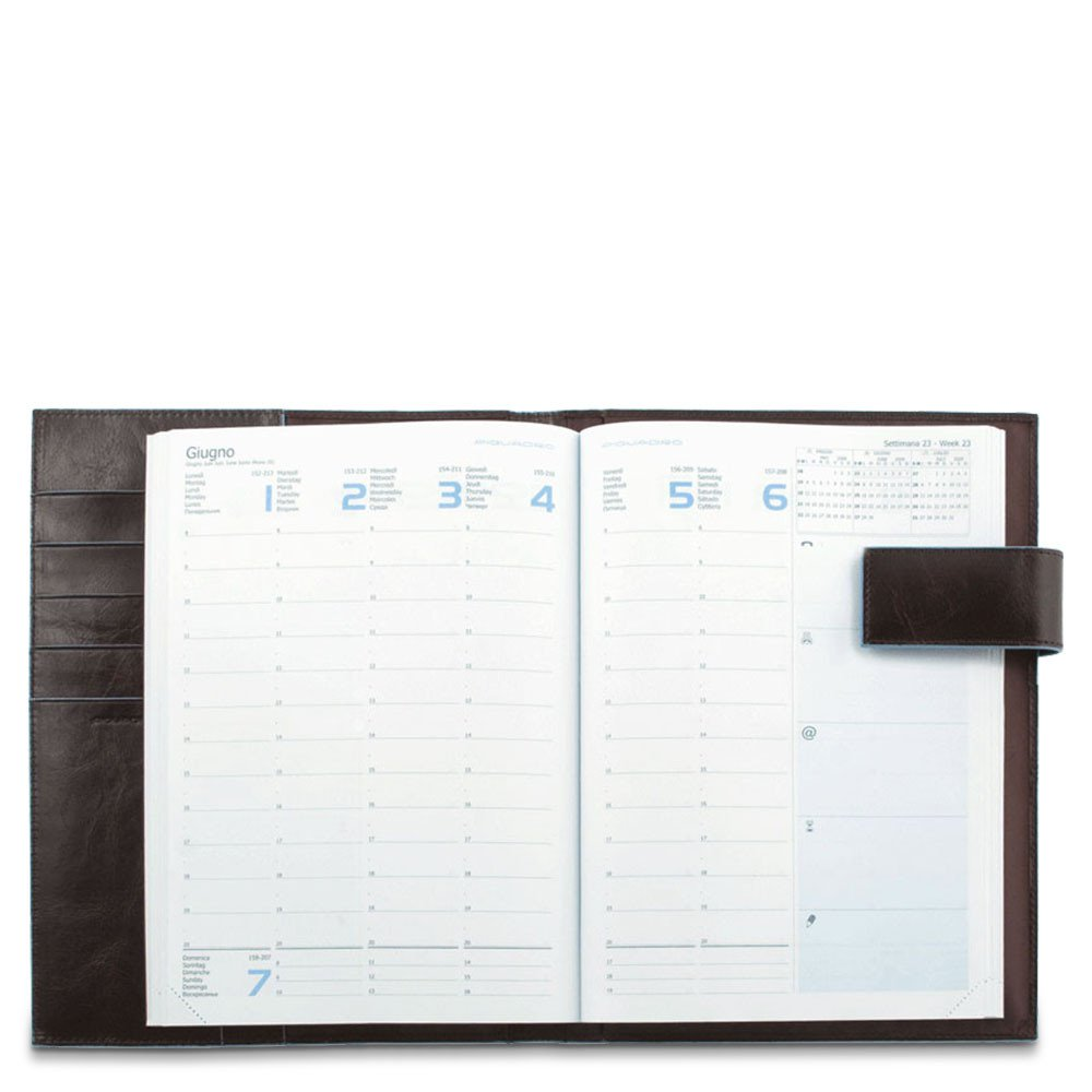 Agenda settimanale in pelle con Stationery - Q Shops