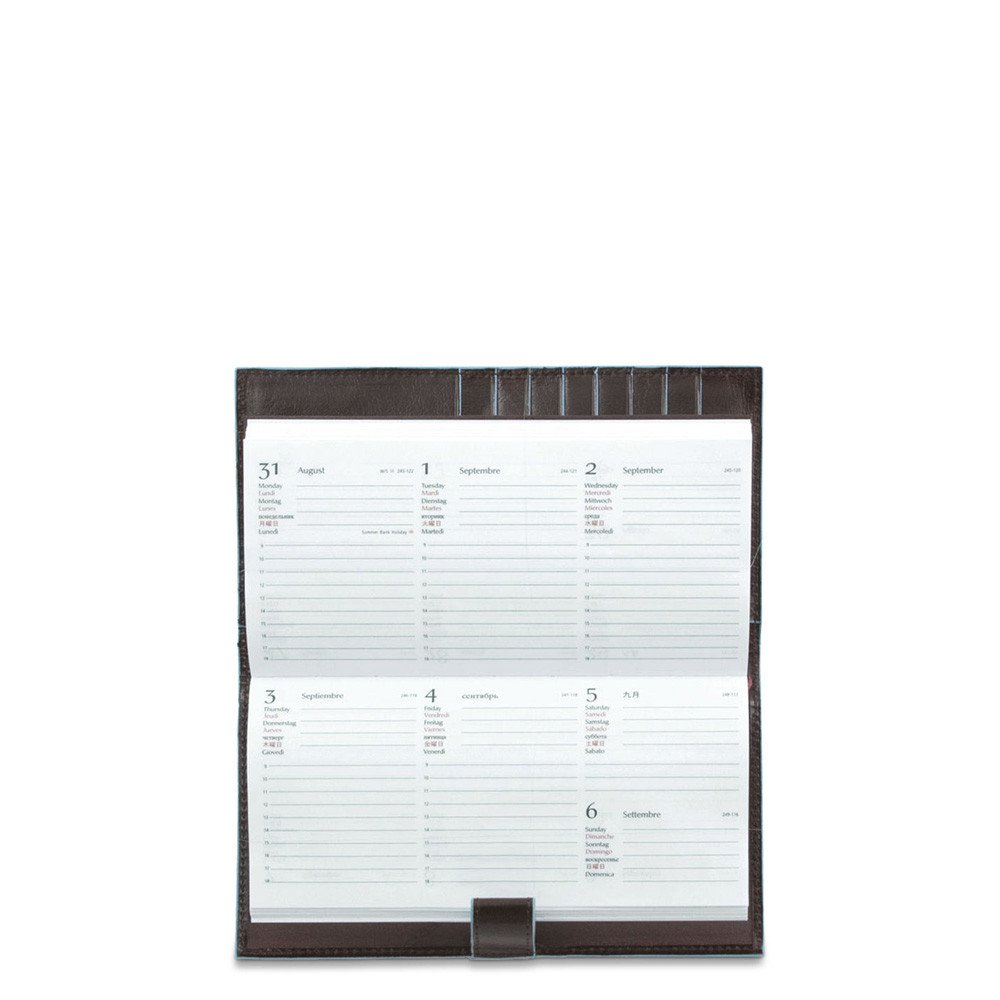 Agenda Tascabile Sottile In Pelle Stationery - Q Shops