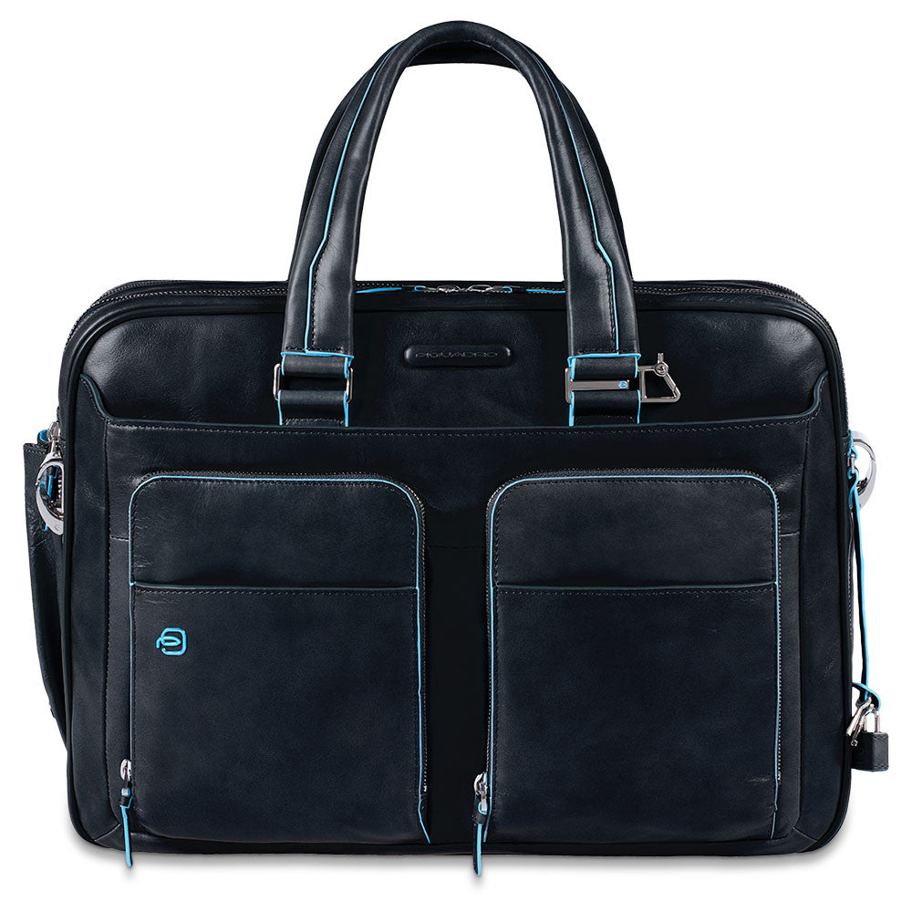 Borsa espandibile porta PC e porta iPad/iPad Air Blue Square - Qshops (Piquadro)