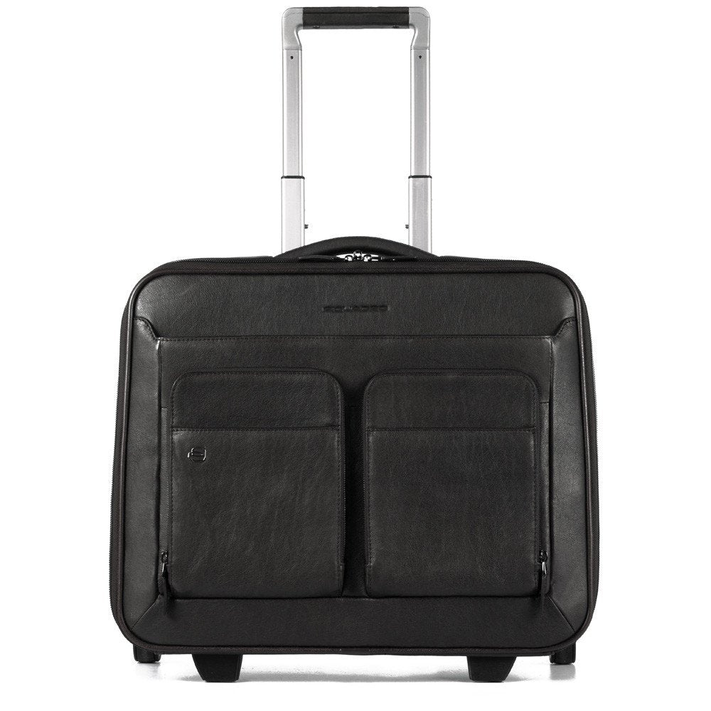 Cartella trolley porta PC e porta iPad con placca per USB Black Square - Q Shops
