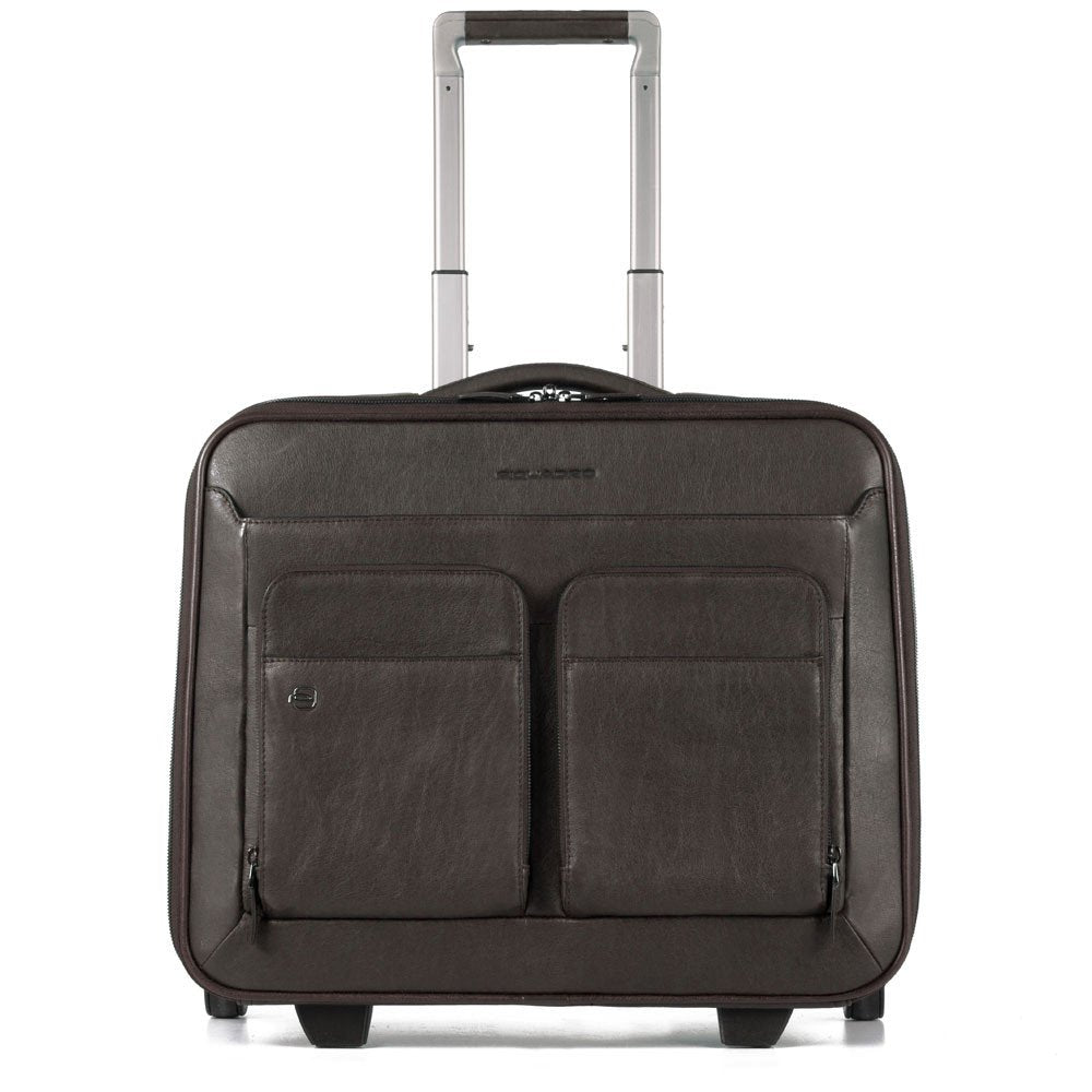 Cartella trolley porta PC e porta iPad con placca per USB e micro-USB - lucchetto TSA e CONNEQU Black Square