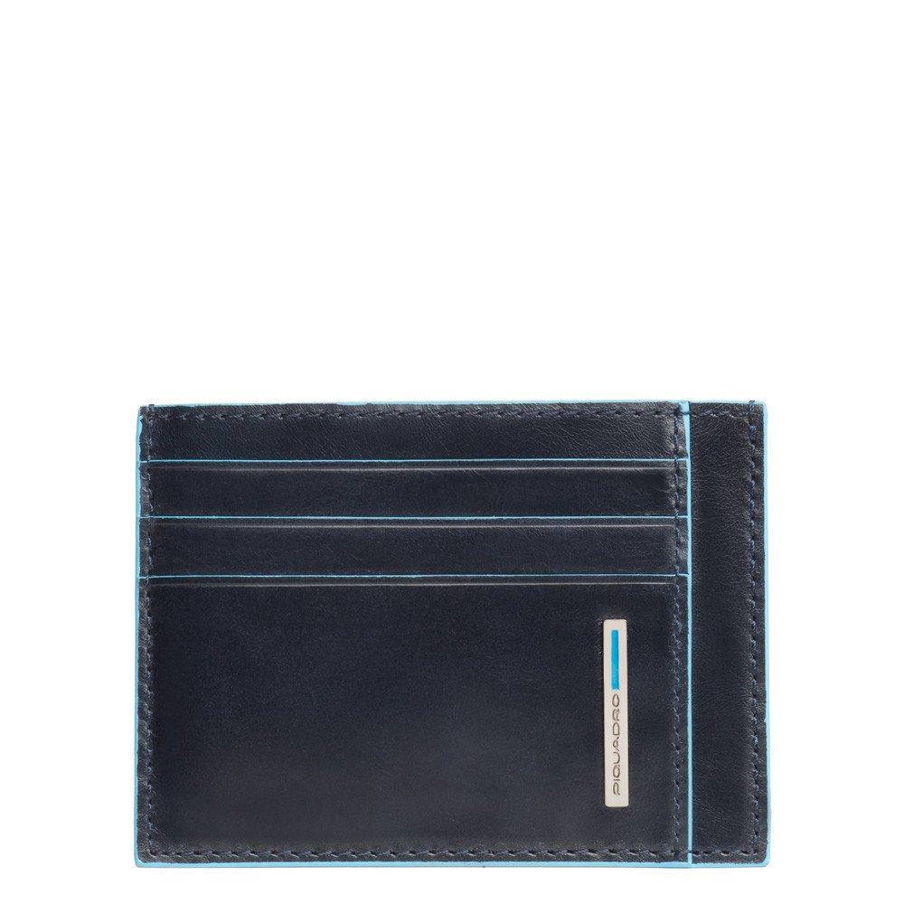 Porta carte di credito in pelle Blue Square