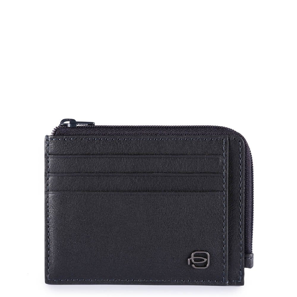 Porta carte di credito in pelle Black Square - Q Shops