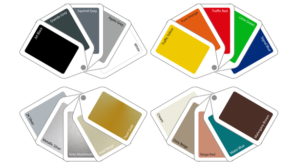 Colour swatches for Francisco Plant Couture Pots