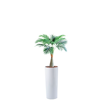 Cardin B Fiberglass Pot 35cmx100cm with Artificial Areca Palm 80cm