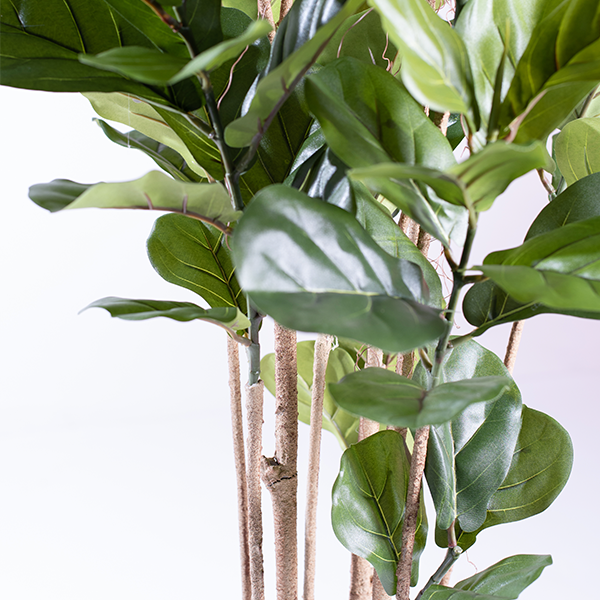 Faux Fiddle Leaf Ficus 180cm close up stem and Leaves