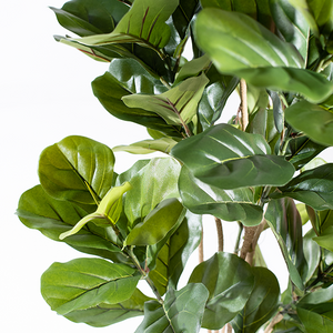 Faux Fiddle Leaf Ficus 155cm Close-up of leaves