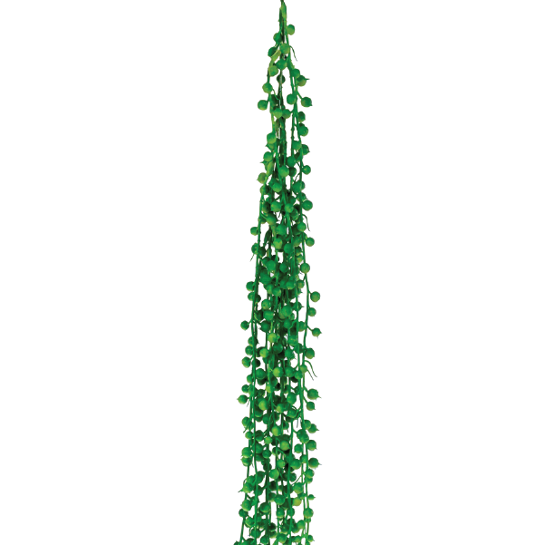 Hanging Pearls String 85cm Green
