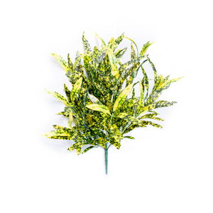 Artificial spotted green and yellow Spider bush 45cm