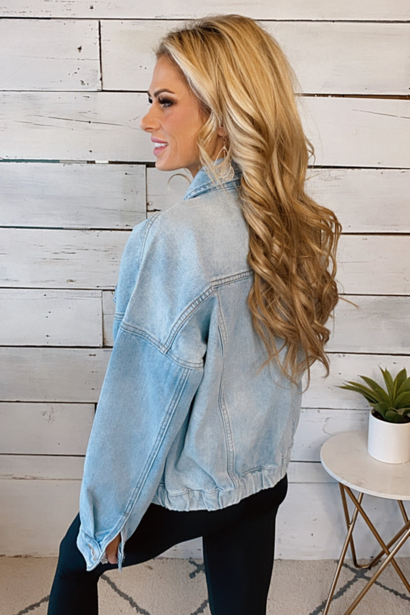 Trading Secrets Denim Jean Jacket : Light Wash
