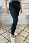 Hazel Full Length Compression Leggings : Black